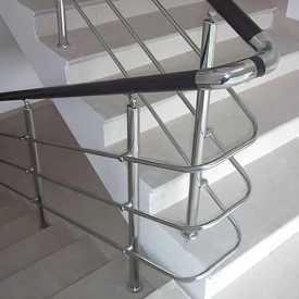 Перила для лестниц с ригелями